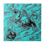 Monstruo de mar ártico azulejos ceramicos