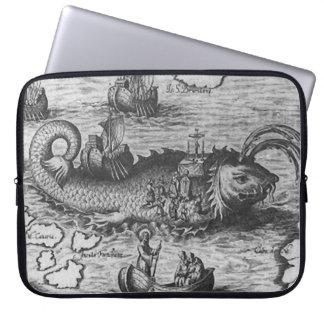"Monstruo de mar/criatura/Kraken 15"" manga del orde Funda Portátil"