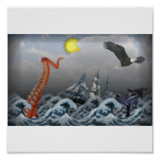 Monstruo de mar poster