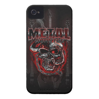 Monstruo de metales pesados Case-Mate iPhone 4 protectores