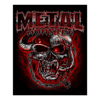 Monstruo de metales pesados póster