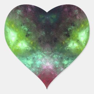 Monstruo de ojos verdes colcomanias corazon personalizadas