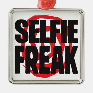Monstruo de Selfie Adorno Cuadrado Plateado
