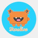 Monstruo de Starshine Etiqueta Redonda