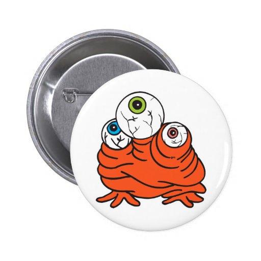 monstruo de tres globos del ojo pins