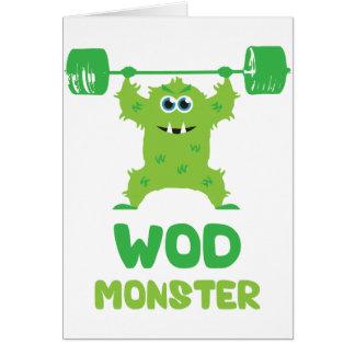 Monstruo de WOD (monstruo lindo del arrebatamiento Felicitación
