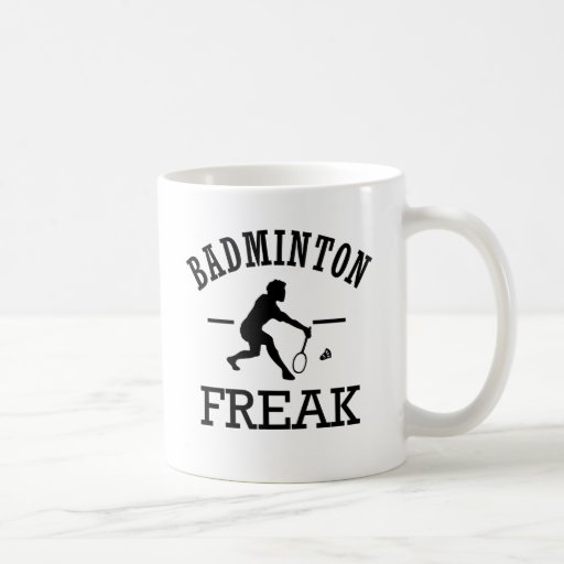 Monstruo del bádminton taza de café