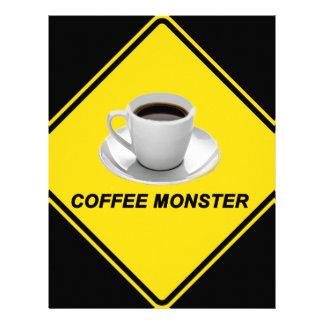 """Monstruo del café "" Membretes Personalizados"