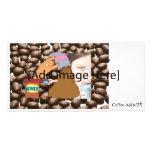 Monstruo del café tarjetas fotográficas personalizadas
