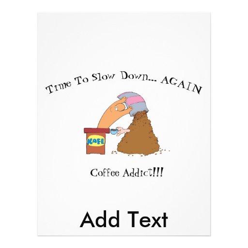 Monstruo del café tarjetas informativas