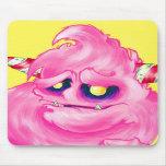 Monstruo del caramelo de algodón alfombrillas de ratón