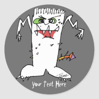 Monstruo del dibujo animado de FrankEinstein Etiquetas
