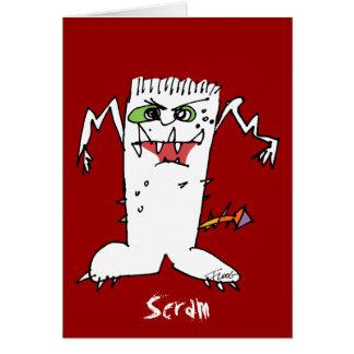 Monstruo del dibujo animado de FrankEinstein Tarjeton