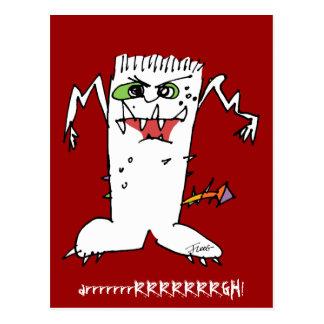 Monstruo del dibujo animado de FrankEinstein Postales