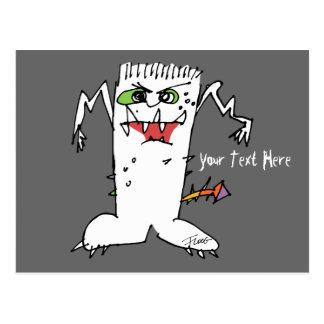 Monstruo del dibujo animado de FrankEinstein Tarjetas Postales