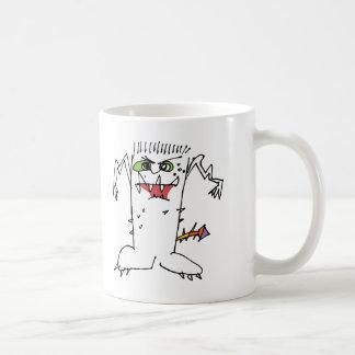 Monstruo del dibujo animado de FrankEinstein Tazas De Café