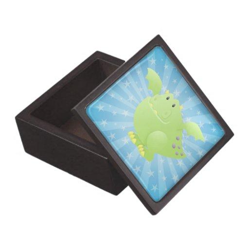 Monstruo del dragón verde caja de recuerdo de calidad