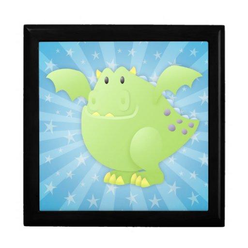 Monstruo del dragón verde cajas de regalo