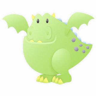 Monstruo del dragón verde fotoescultura vertical