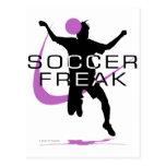 Monstruo del fútbol - chicas - rosa postal