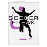 Monstruo del fútbol - chicas - rosa tarjeta