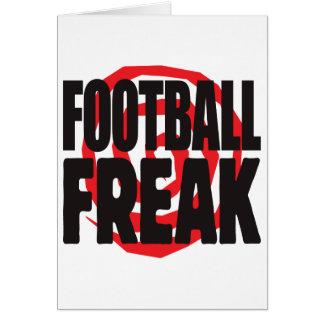 Monstruo del fútbol tarjeta de felicitación