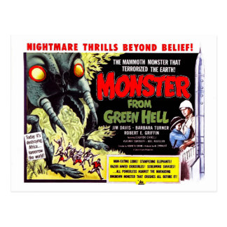 Monstruo del infierno verde postal