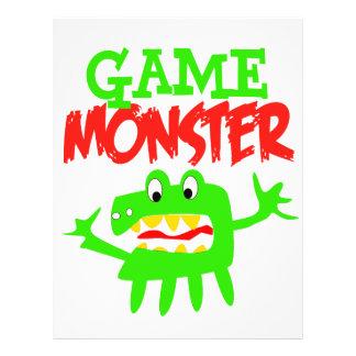 Monstruo del juego tarjetón