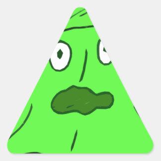 monstruo del limo pegatina triangular