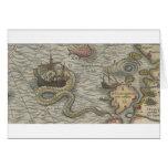 Monstruo del mapa/serpiente de mar tarjeton
