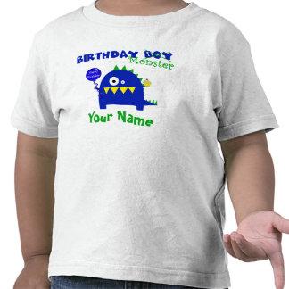 Monstruo del muchacho del cumpleaños camiseta