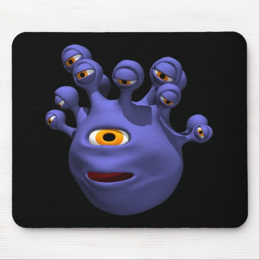 Monstruo del ojo tapetes de ratón
