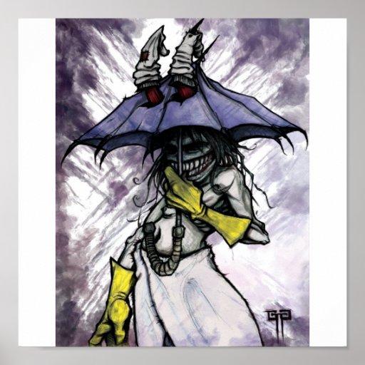 Monstruo del paraguas póster