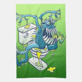 Monstruo del retrete toallas de cocina