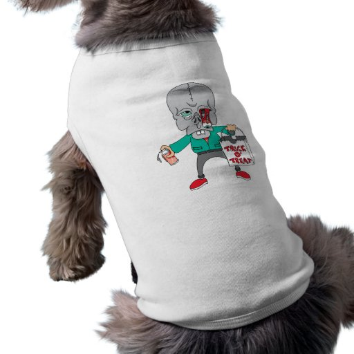 Monstruo del truco o de la invitación camisas de perritos