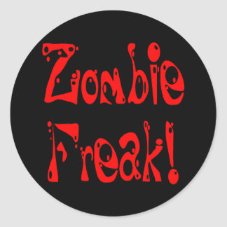 Monstruo del zombi # 7 pegatina redonda