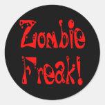 Monstruo del zombi # 7 pegatinas redondas
