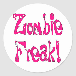 Monstruo del zombi # 8 pegatina redonda