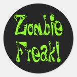 Monstruo del zombi # 9 etiqueta redonda