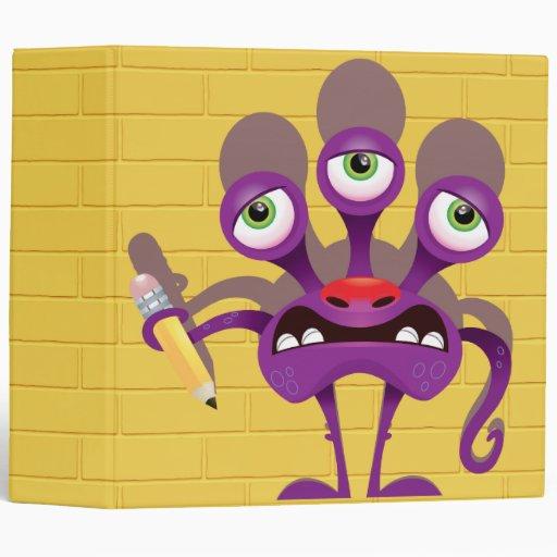 """monstruo divertido con el cuaderno del lápiz carpeta 2"""""""