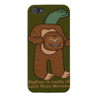 Monstruo divertido de Bigfoot Loch Ness iPhone 5 Carcasa