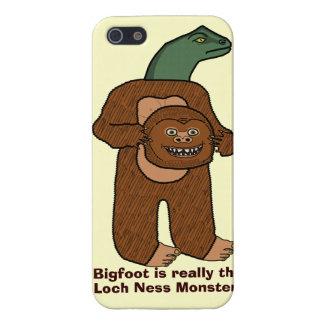 Monstruo divertido de Bigfoot Loch Ness iPhone 5 Carcasas
