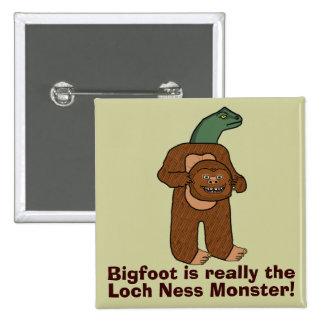 Monstruo divertido de Bigfoot Loch Ness Pins