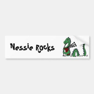Monstruo divertido de Loch Ness que toca las Pegatina Para Auto