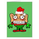 Monstruo divertido del navidad felicitaciones