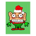 Monstruo divertido del navidad postal