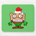 Monstruo divertido del navidad alfombrillas de ratón