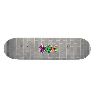 monstruo divertido patines