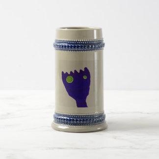 Monstruo en azul jarra de cerveza