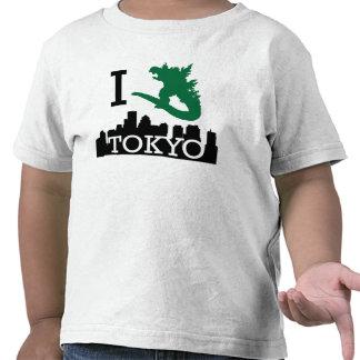 Monstruo en camisa del niño de Tokio